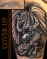 Cover up Tattoo Köln Drache